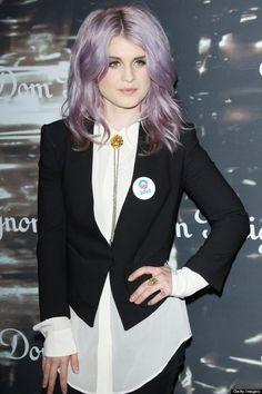 Art Kelly Osborne lilac hair blazer fashion