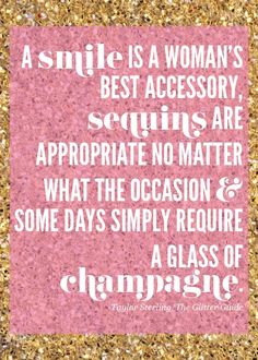 change champagne to wine and this is perfect!