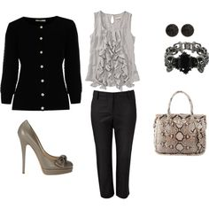 Black/Grey outfit