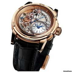 Louis Moinet Tempograph ad: £21,713 Louis Moinet 20 SECOND TEMPOGRAPH Ref. No. LM-39.50.80; Pink gold; Manual winding; Condition 0 (unworn); New; With box; With pap