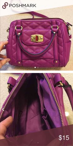 Merona Plum purse-NWOT Never used. Perfect condition. Beautiful purse. Removable  shoulder strap. Merona Bags Crossbody Bags
