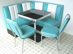 Retro American 50s Style Diner sets, a mix and match selection of american diner furniture, diner booths and tables