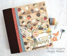 Hello Fall SN Binder from creative team member Jennifer Haggerty Scrapbook Cover, Mini Scrapbook Albums, Mini Albums, Simple Stories, Fall Diy, Hello Autumn, Mini Books, Journal Cards, Fall Crafts