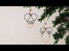 Beaded Angel Ornament with Ribbon Wings DIY Tutorial - YouTube