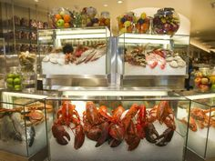 Lobsters and shellfish galore, oh my. Bacchanal's display is decadent.