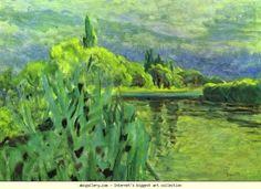 "artist-bonnard: ""The Seine, Pierre Bonnard Medium: oil on canvas"" Pierre Bonnard, Georges Seurat, Edouard Vuillard, Henri Rousseau, Vincent Van Gogh, Charles Angrand, Cannes, Pop Art, Post Impressionism"