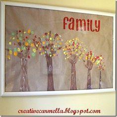 family Family hand print trees
