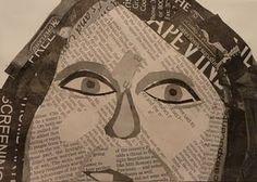 Newspaper self-portrait collage
