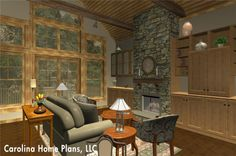 Open floor plan with cathedral ceiling great room. SG-1799-AA is well suited for either a downsizing or starter home.
