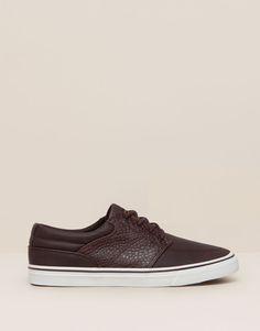 Pull&Bear - hombre - zapatos hombre - bamba moda street - burdeos - 17835012-I2015