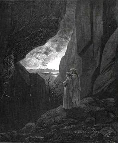 Doré, Exit from Hellinf.34.134.dore _ Dante and Virgil emerging from the southern hemisphere _ Doré, Gustave