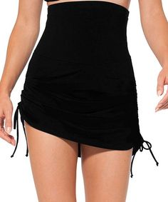 Look what I found on #zulily! Black Control Super High-Waist Swim Skirt by Anne Cole #zulilyfinds.  Hides the tummy, hides the stretch marks...so happy with this purchase!