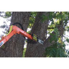 Limbinator Saw. This innovative tree trimming attachment uses the height and hydraulic power of a tractor with front-end loader to create a trimmer that is quiet, safe and environmentally friendly without sacrificing power and usability.