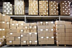 Buy catron boxes in warehouse by kadmy on PhotoDune. Rows of catron boxes in warehouse Self Storage, Industrial Office, Warehouse, Crates, The Row, Multi Story Building, Stock Photos, Architecture, Furniture