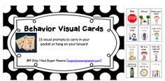 Free Behavior Visual Cards!