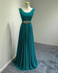 2015 Fuchsia Long Bridesmaid Dresses With Beads Chiffon Scoop Neck Teal Formal Gown Plus Size Wedding Party Dresses Red Real Photos J825
