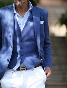 Proof that light blue suits can look good. It's rare, but you can find a good one sometimes.