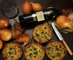 French Onion Tartlets paired with Cabernet Sauvignon