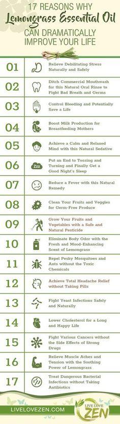Lemongrass Essential Oil Benefits Infographic