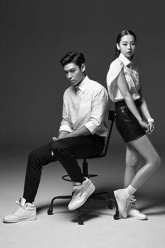 Big Bang TOP and So Hee - Reebok Classic