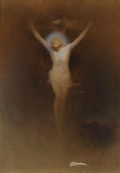 Karl Wilhelm Diefenbach ~ Symbolist and Art Nouveau painter Crucifixion Of Jesus, Jesus Christ, Holy Ghost, Old Paintings, Sacred Art, Old Master, Religious Art, Vincent Van Gogh, Art And Architecture