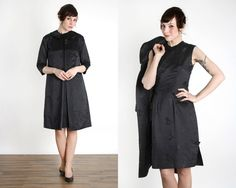 Dress & Jacket 2pc Black Cheongsam, Overcoat. Asian LBD by VeraVague on Etsy https://www.etsy.com/listing/261167512/dress-jacket-2pc-black-cheongsam
