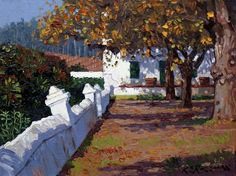 Roelof Rossouw South African Artists, Faeries, Landscape Architecture, Interior And Exterior, Cape Dutch, Sidewalk, City Scapes, Fun Art, Drawings