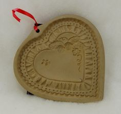 Heart Cookie Mold - Brown Bag Cookie Art - Craft Mold. $14.00, via Etsy.