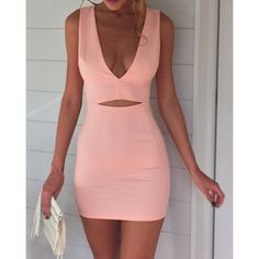 escote sexy vestido