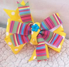 Hey, I found this really awesome Etsy listing at https://www.etsy.com/listing/184099117/colorful-girl-dog-collar-bow-yellow