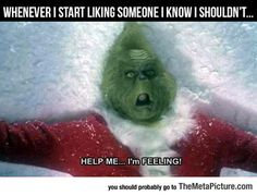 19 Memes For People Who Hate Feelings - Sarcasm Meme - Sarcasm Meme ideas - I'm not heartless I'm just misunderstood. The post 19 Memes For People Who Hate Feelings appeared first on Gag Dad. Images Grinch, Funny Cute, The Funny, Le Grinch, Grinch Heart, Ft Tumblr, Youre My Person, Wrong Person, No Kidding