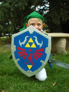 Enfant taille bouclier hylienne du lien de la légende de Zelda (conception de Ocarina of Time)