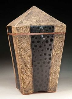 """Lisa Pedolsky uses tar paper as support while constructing the piece. """"When you do what you always have done, you always get what you have always gotten."""""""