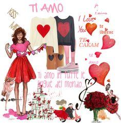 """""""Ti Amo in Tutte le Lingue del Mondo..."""" by lara-224 ❤ liked on Polyvore"""
