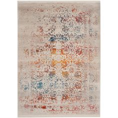 Safavieh Rugs Gray & Rust Distressed Kelsie Rug (¥7,050) ❤ liked on Polyvore featuring home, rugs, distressed area rug, loom rugs, gray plush rug, plush rugs and rust rug