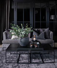 Living Room Inspiration, Interior Design Inspiration, Decorating Your Home, Interior Decorating, Dark Interiors, Living Room Grey, Dining Room Design, Dream Rooms, Inspired Homes