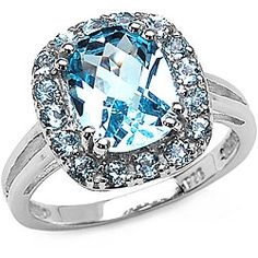 As birthstones go, this blue topaz for December is not too bad.