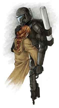 Darman and Etain. Star Wars: Doing romance right