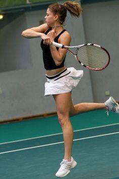 Camila Giorgi (born 31 December in Macerata) is a professional Italian tennis player of Argentine background. Her highest WTA sing. Camila Giorgi, Tennis Live, Sport Tennis, Wta Tennis, Foto Sport, Tennis Equipment, Tennis Players Female, Tennis Clothes, Tennis Outfits