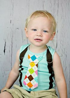 adorable onesie with faux suspenders and necktie on Etsy by shopantsypants