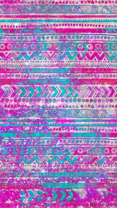 Sparkly Blue and Pink Tribal, made by me #patterns #blue #glitter #sparkles #wallpapers #backgrounds #tribal #aztec #pink