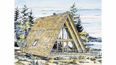 Two Story House Plans, House Floor Plans, Flat Roof House, Tiny House, A Frame Cabin Plans, A Frame Floor Plans, Romantic Places, The Great Outdoors, How To Plan