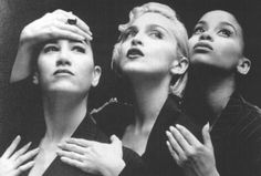 Madonna's Vogue video channeling 1930's menswear trend with 90s style