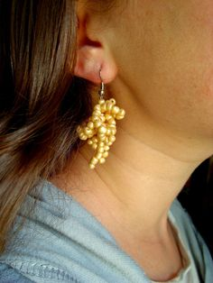 Creamy colour for earrings