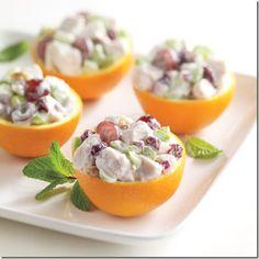 Chicken Salad served in Oranges