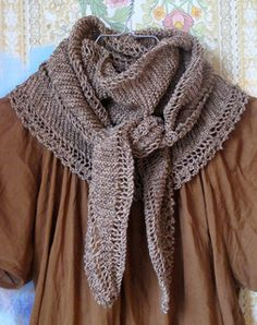 Tara: Scarf with Lace Edging