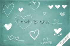 Heart Doodle Brushes by byjanam Photoshop; Project Life
