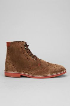 Ted Baker Tiplip wingtip suede boot  menswear  urbanoutfitters Men s Boots 64ca4e675