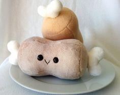 Schattige kleine Toast Toastie pluche van ValkyriaCreations op Etsy