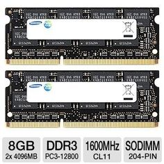 Samsung Electronics Extreme Low Voltage 30nm SODIMM 8 Dual Channel Kit DDR3 1600 (PC3 12800) 204-Pin DDR3 SO-DIMM MV-3T4G3D/US (Personal Computers)  http://www.amazon.com/dp/B00592005E/?tag=goandtalk-20  B00592005E
